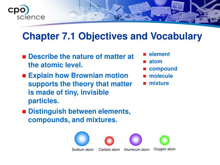 Chapter 7 1 objectives and vocabulary