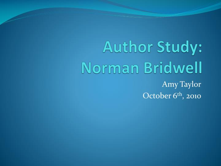 author study norman bridwell n.