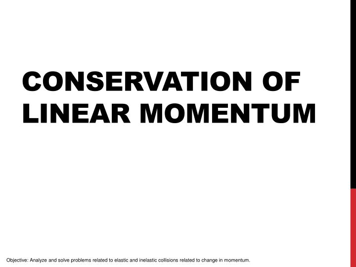 conservation of linear momentum n.