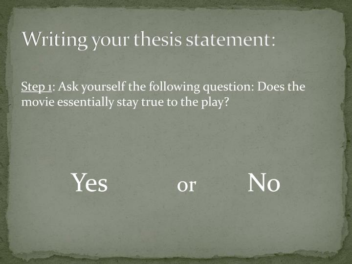 writing your thesis statement n.
