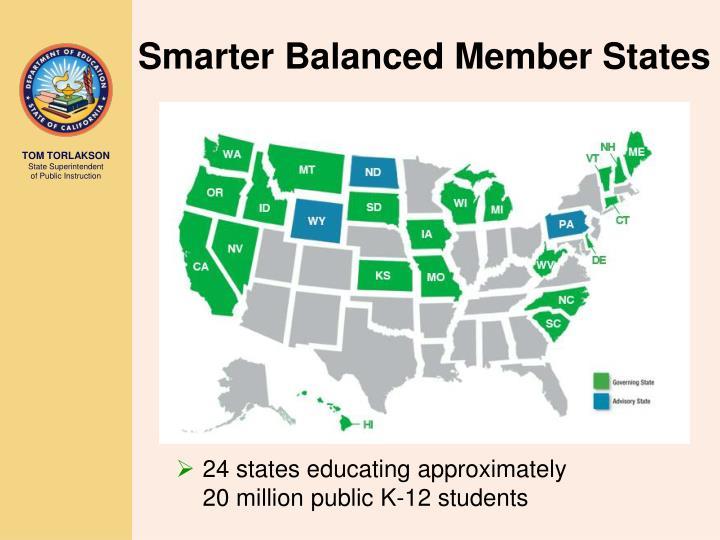 24 states educating approximately                  20 million public K-12 students