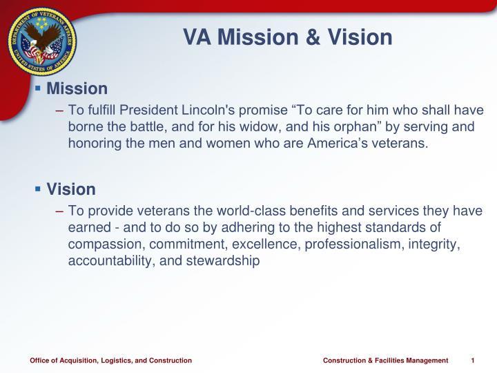 Va mission vision