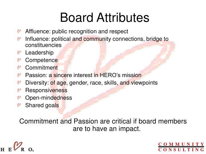Board Attributes