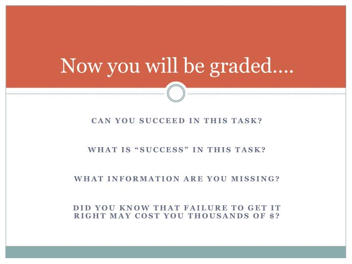 Now you will be graded….