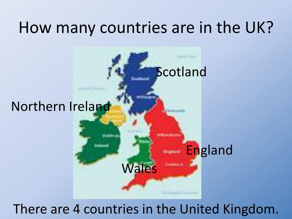 How many countries are in uk