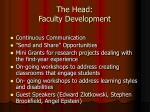 the head faculty development