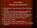 the head faculty development1