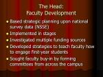 the head faculty development2
