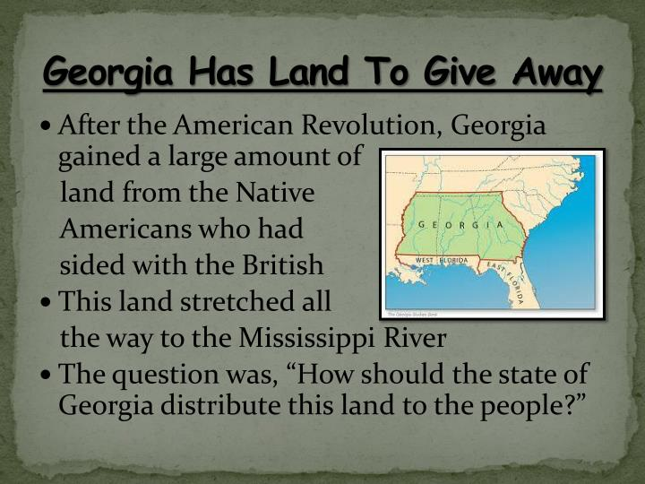 Georgia Has Land To Give Away