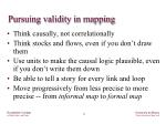 pursuing validity in mapping