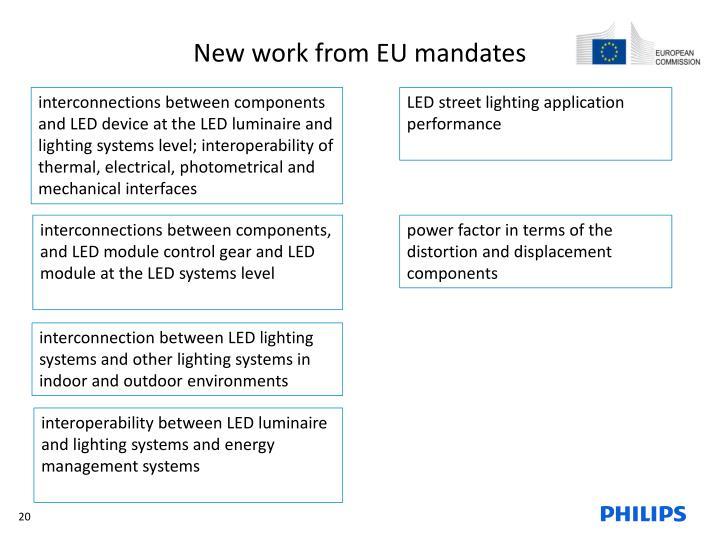 New work from EU mandates