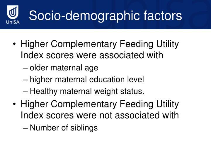 Socio-demographic factors