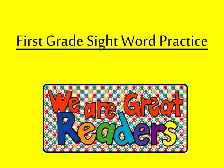 first grade sight word practice n.