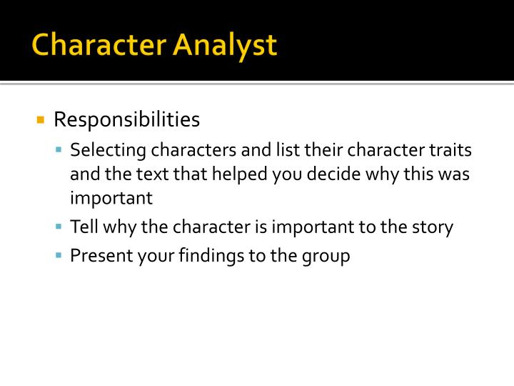 Character Analyst