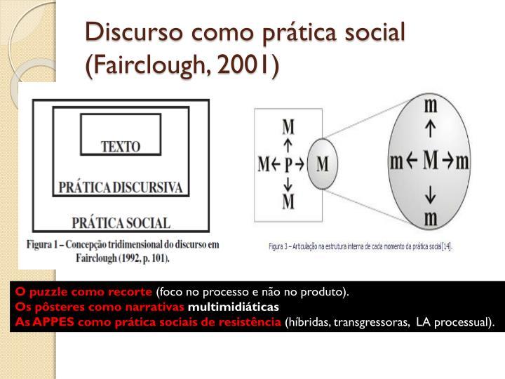 Discurso como prática social (Fairclough, 2001)