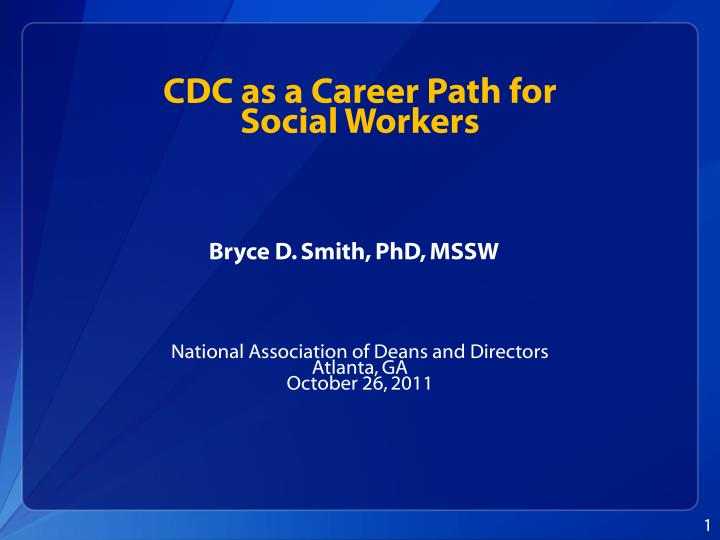 cdc as a career path for social workers n.
