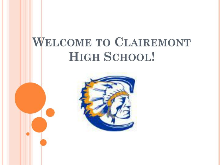 welcome to clairemont high school n.