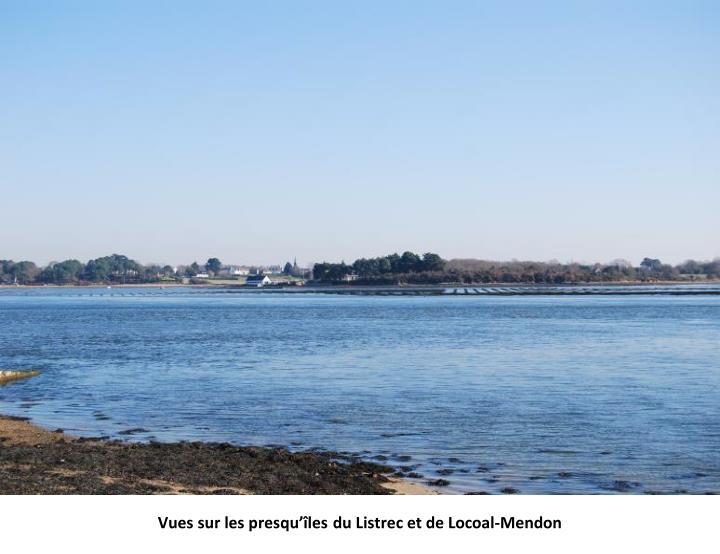 Vues sur les presqu'îles du Listrec et de Locoal-Mendon