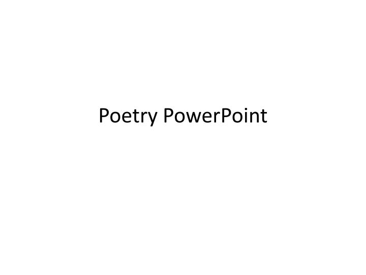 poetry powerpoint n.