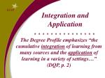 integration and application