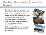 how does study abroad enhance your degree