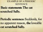 example of a periodic sentence