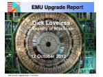 emu upgrade report