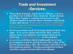 trade and investment services