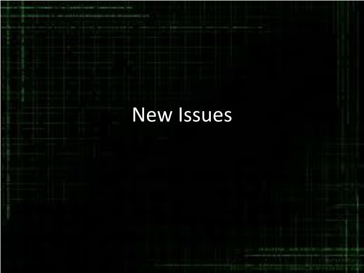 new issues n.