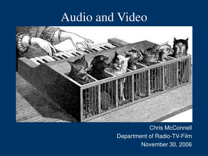 audio and video n.
