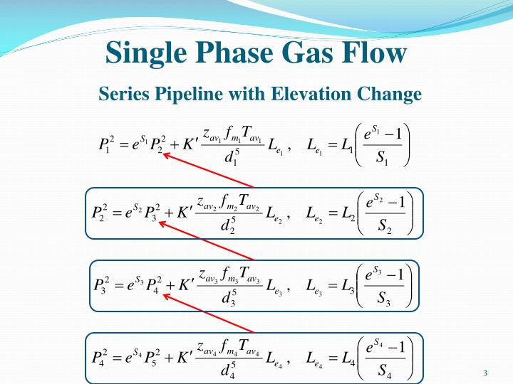 Single phase gas flow series pipeline with elevation change1