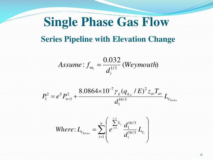 Single Phase Gas Flow