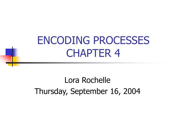 encoding processes chapter 4 n.
