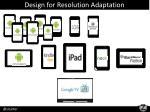design for resolution adaptation
