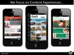 we focus on content experiences