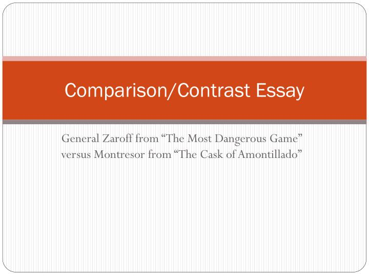 And contrast essay powerpoint