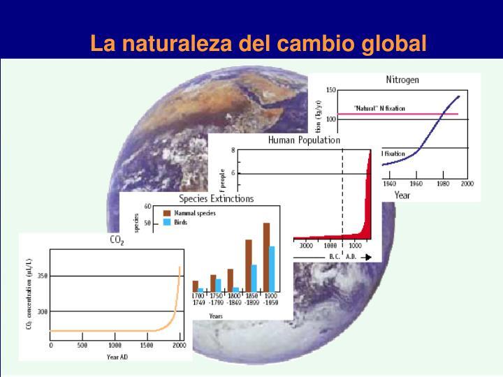 La naturaleza del cambio global
