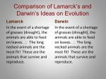 comparison of lamarck s and darwin s ideas on evolution2