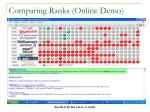 comparing ranks online demo