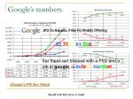 google s numbers