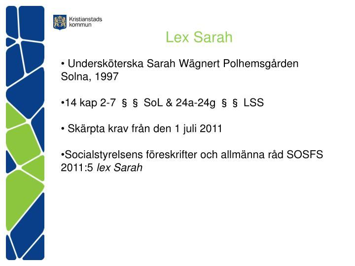 Lex sarah1
