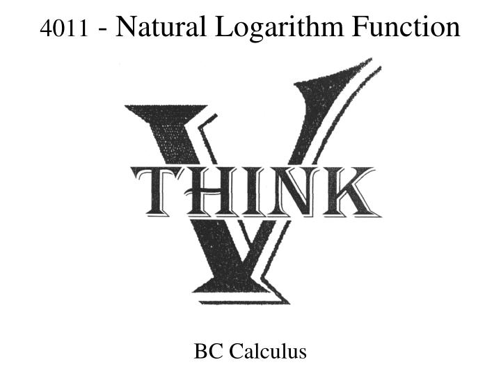 4011 natural logarithm function n.