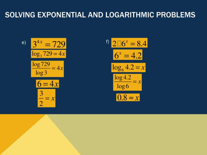 Solving Exponential and Logarithmic Problems