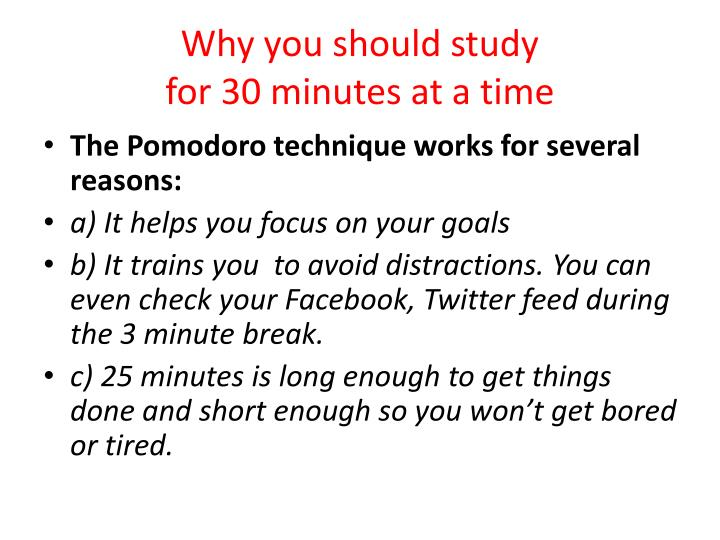 Why you should study