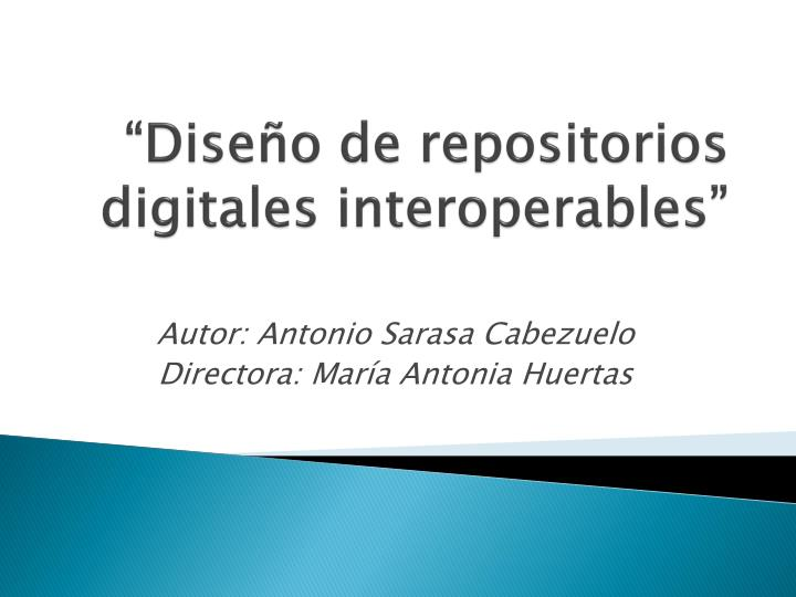 dise o de repositorios digitales interoperables n.