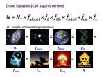 drake equation carl sagan s version