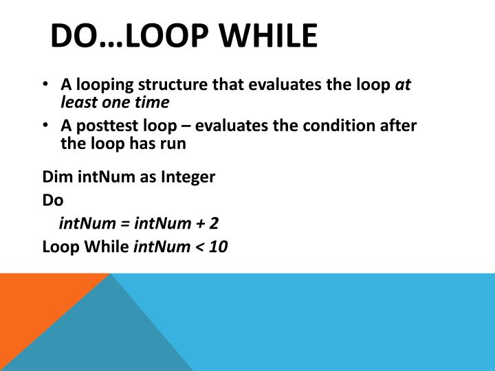 Do loop while