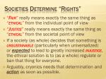 societies determine rights