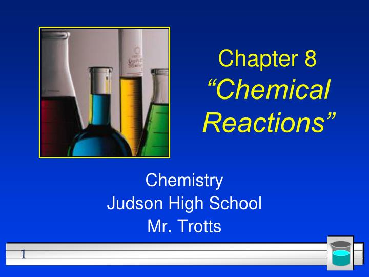 chapter 8 chemical reactions n.