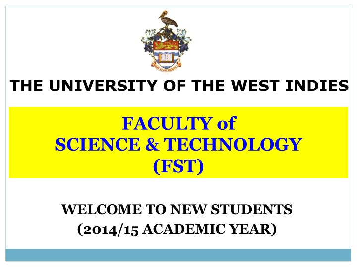 faculty of science technology fst n.